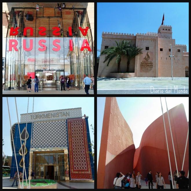 Padiglioni Russia, Oman, Turkmenistan ed Emirati Arabi