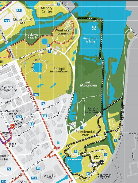 homebush bicentennial park map