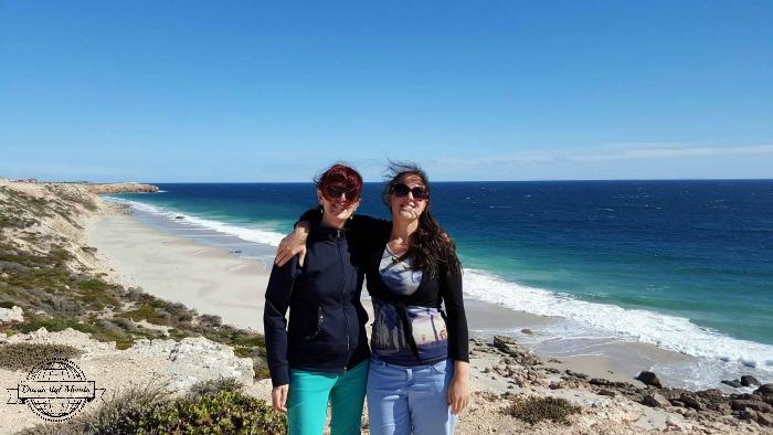 Cla & mum at the beach